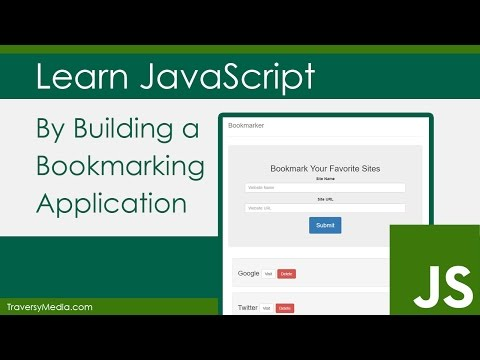 Learn JavaScript By Building A Bookmarker Application