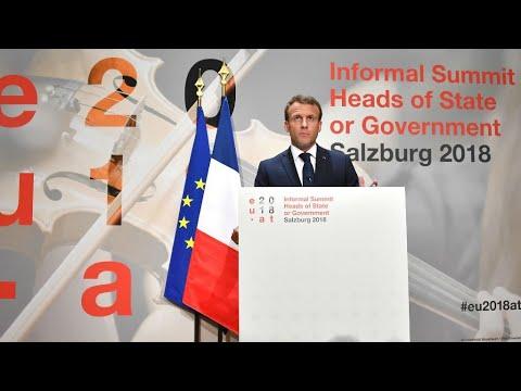 إيمانويل ماكرون: أوروبا تواجه أربعة تحديات بشأن أزمة المهاجرين  - 12:55-2018 / 9 / 21