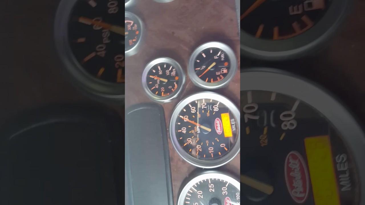 1996 Peterbilt 357 Wiring Diagram Gauges Tach Free Download Oasis Diagrams Speedometer Working Weird Youtube 1988 379 At