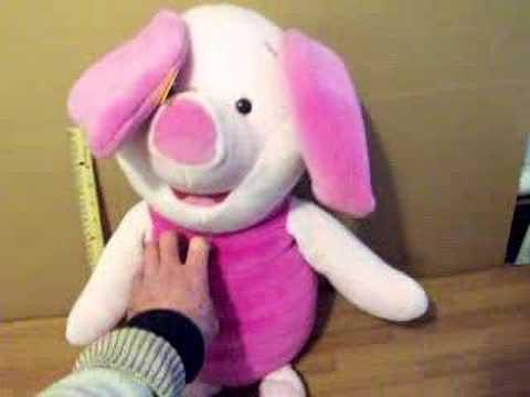 Lg Talking Piglet Stuffed Toy Youtube