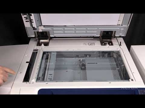 Xerox® Color 550 560 570® Cleaning the CVT Glass