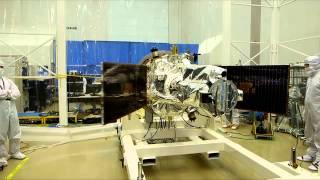 IRIS Leaves Thermal Vacuum Chamber
