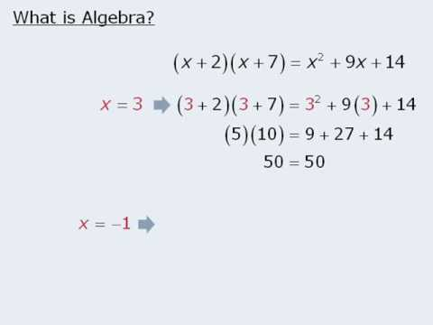 1  GRE Lesson: Introduction to Algebra
