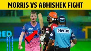 Chris Morris And Abhishek Sharma Fight | SRH vs RE IPL 2021 Highlights | Kane WilliamsonVideo