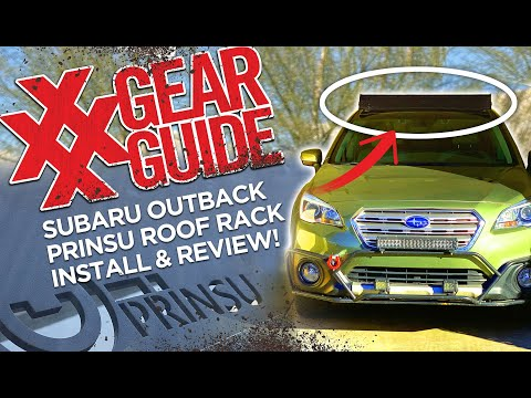 Prinsu Roof Rack Subaru Outback Install and Review