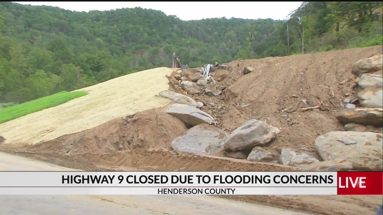 Highway 9 In Bat Cave Closed Due To Flooding Concerns