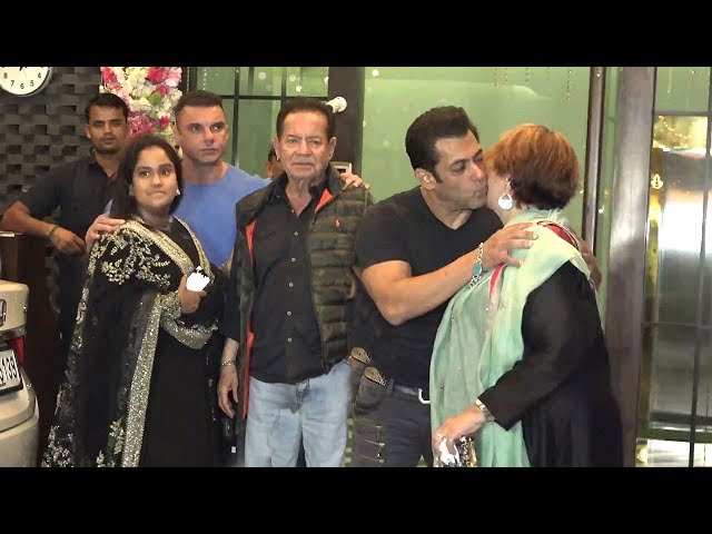 Salman Khan Shows Love Care For Step Mom Helen In Front Of Family