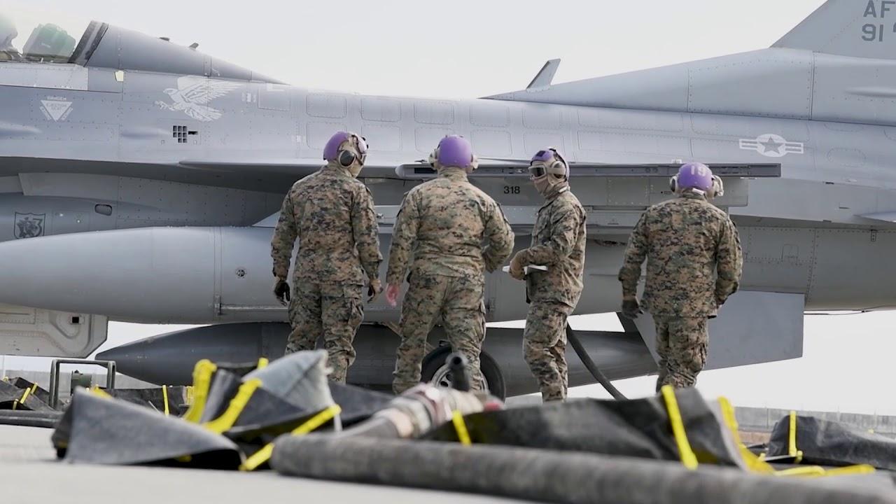 US Military News • MWSS Setup a FARP for F-16D Fighting Falcon • Japan, Feb. 24, 2021