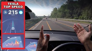 tesla Model X 75D MAX SPEED On Autobahn (battery overheat & will it autopilot?!)