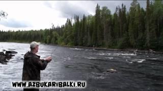 Рыбалка в Карелии. Кумжа.(Ловля кумжи на ультралайтовые снасти на реках Карелии. Красивая природа, водопад, рай для рыбаков., 2013-07-29T06:04:48.000Z)
