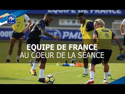 Entrainement Equipe de France à Clairefontaine