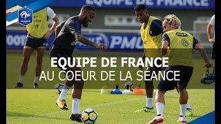 Equipe de France: le 1er entrainement à Clairefontaine