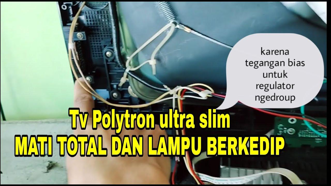Tv Polytron Ultra Slim Mati Dgn Lampu Perkedip