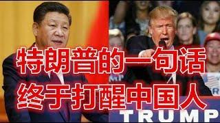 特朗普的一句话,中国人好日子过太久了!终于打醒中国人! 关注订阅!谢...