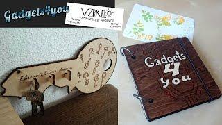 Декорирование ключницы, выжигание и подарок, блокнот от VZBRELO