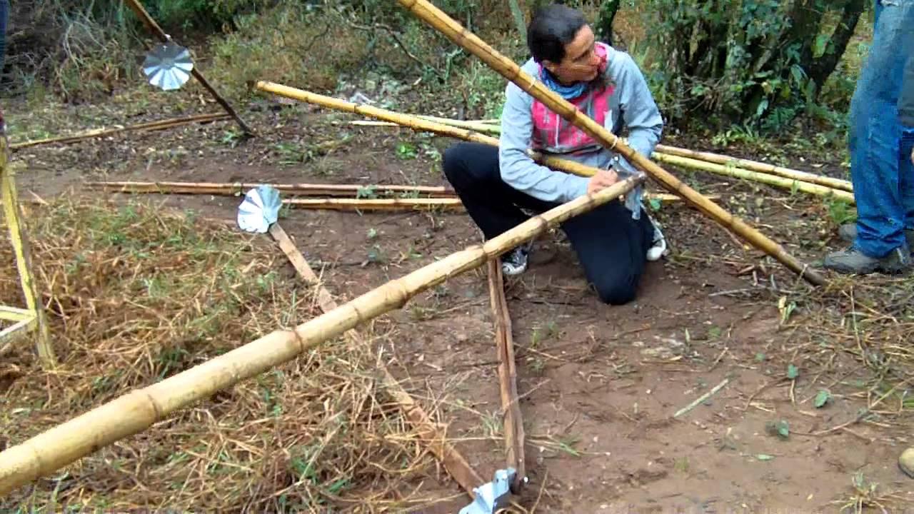 Armado De Carpa Con Estructura De Bambu