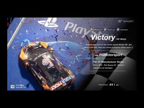 GT SPORT FIA GT Manufacturer Series Preseason Test Race 4 Sao Paulo McLaren 650S GT3 Onboard