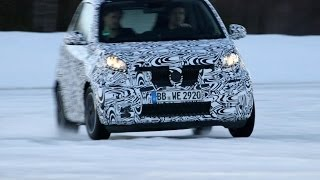 NEW 2015 Smart Fortwo & Forfour First Driving on Snow
