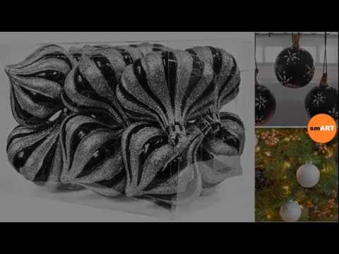 black christmas ornaments glass christmas tree ornaments - Black Christmas Ornaments