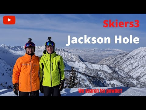 Randy skiing Rendevous Bowl, Bivouac, Cheyenne Gully and Lower Sublette at Jackson Hole, Wyoming