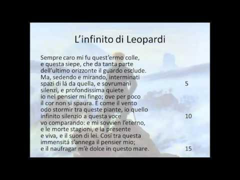 L Infinito Di Leopardi Youtube