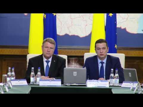 STIRIPESURSE.RO Sedinta de Guvern din 18.01.2017. Participa Klaus Iohannis