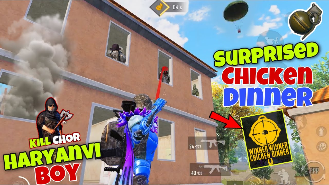 😂 आज मरते मरते बचा | This Grenade Give Me Chicken Dinner? | Best Gameplay Pubg Mobile - Kill Chor
