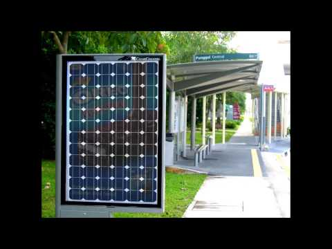 Charming Green Colorful Solar Energy - Bus Stop