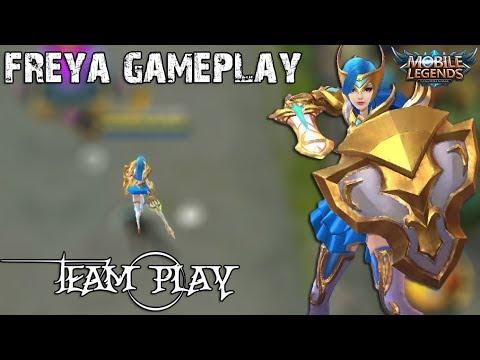 Freya valkyrie Gameplay | Takım oyunu | Sıralı Mistik Ligi | Mobile Legends