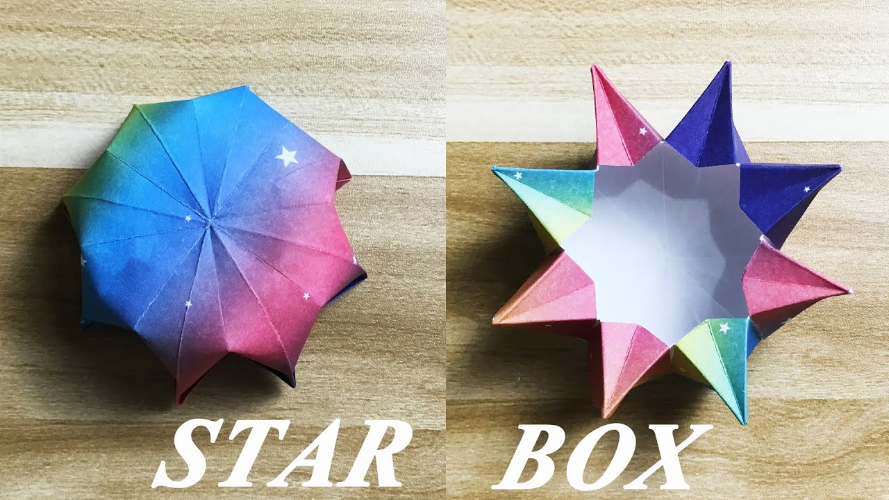 How to make an Origami Star Box | Easy | Tutorial - YouTube | 720x1280