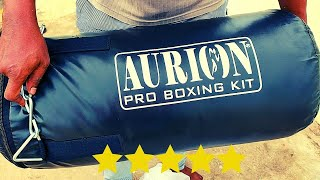 Aurion Filled Heavy Punch Bag Boxing Details and Unboxing