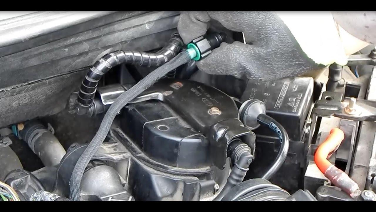 2005 Ford Focus Fuel System Diagram Ford Fiesta 1 4 Tdci Dieselfilter Wechseln Krafstoff