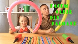 Cum se face sabia din baloanehow to make balloon swords