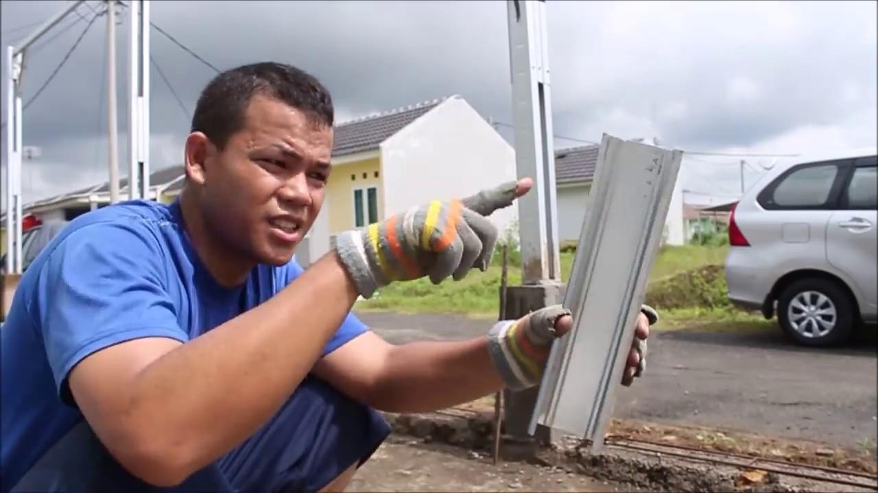 youtube cara membuat kanopi baja ringan merakit rangka canopy dari
