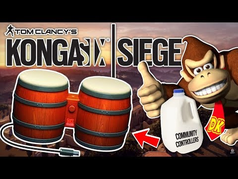 RANKED R6 Siege with Donkey Kong BONGOS - Community Controllers Episode 2