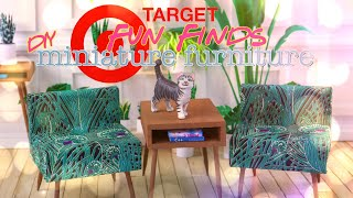 DIY - How to Make: Target Fun Find DIY Miniature Furniture Table Chair Desk & more