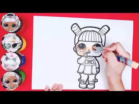 LOL Surprise doll Under Wraps Box Open | How to draw LOL Surprise doll | toy art