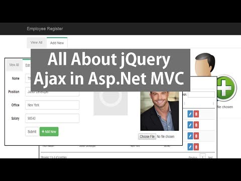 jQuery Ajax In Asp.Net MVC - CRUD Operations Using JSON