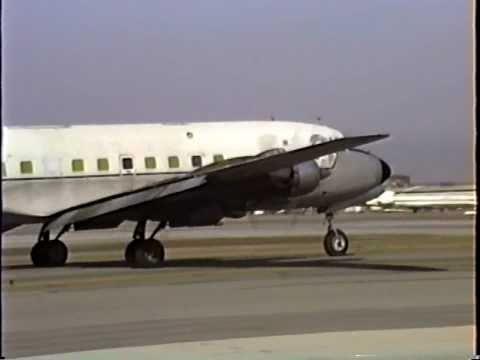 Caribbean Air Cargo Douglas DC-6A Departing LAX