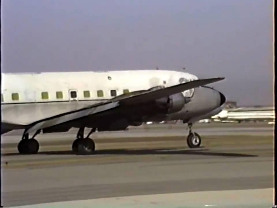 Caribbean Air Cargo Douglas DC 6A Departing LAX