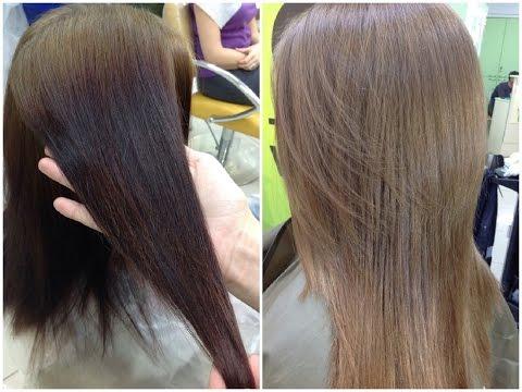 СМЫВКА ЧЕРНОГО ЦВЕТА с волос // Окрашивание в натуральный цвет // CLEANING OF BLACK COLOR from hair