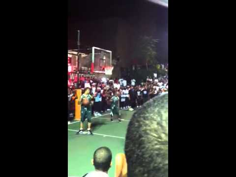 96e2b32cd1d5 Kevin Durant gets blocked at Dyckman - YouTube