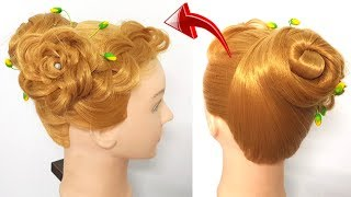 Easy hairstyle For Party | Hairstyle For occasion | Hairstyles for girls | Hair style Braided Flower