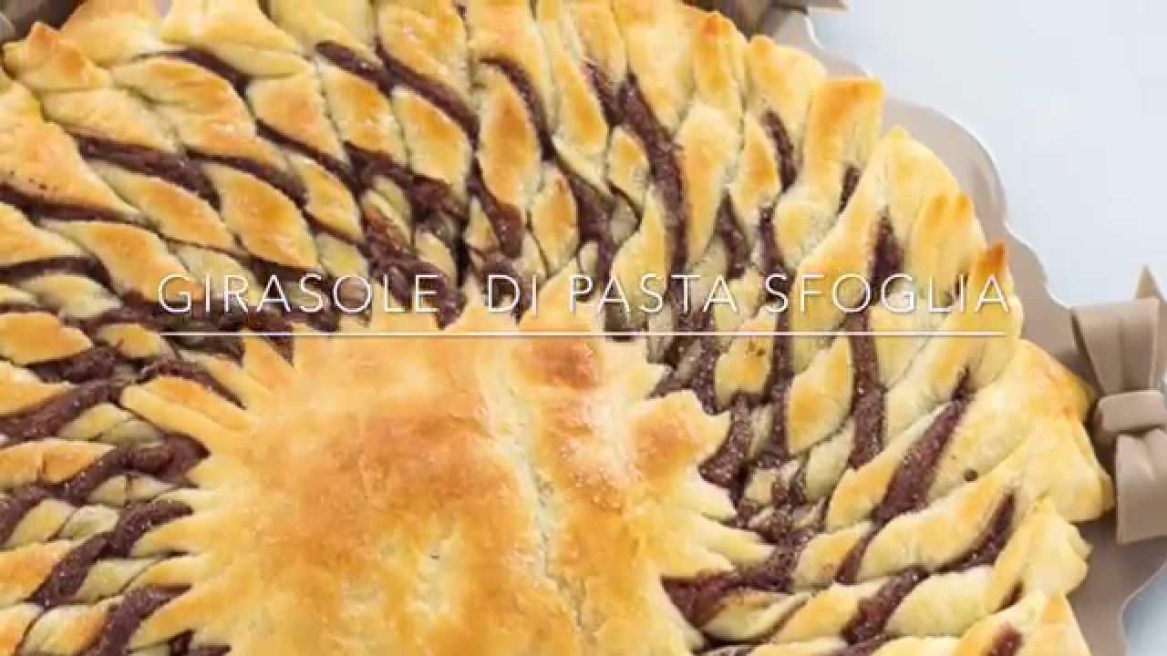Torta Girasole di Pasta Sfoglia  Chiarapassion  YouTube