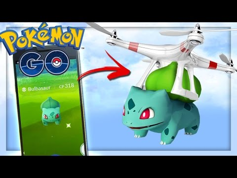 PLAYING POKEMON GO WITH DRONES!