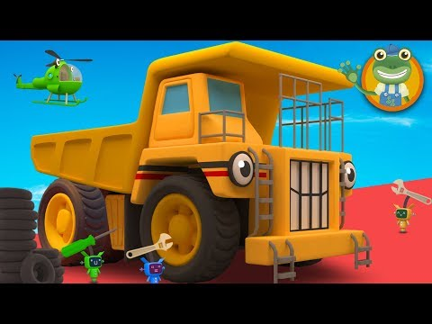 George The GIANT Dump Truck Visits Gecko's Garage | Big Truck Cartoons For Children