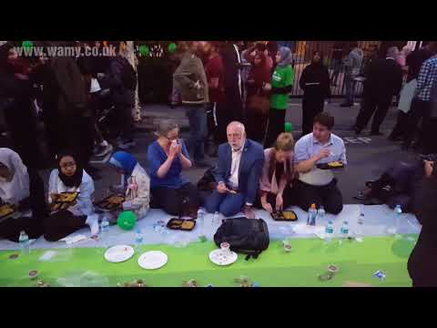 London Biggest Outdoor Iftar. Message from Jeremy Corbyn.