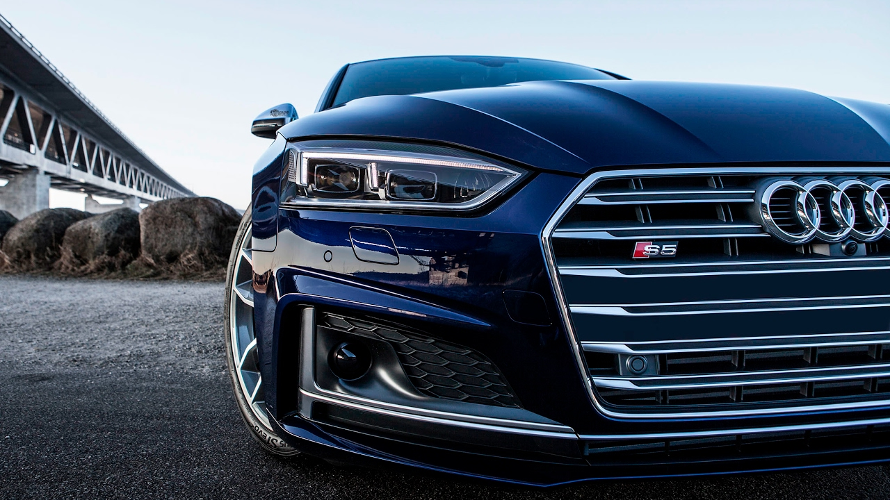 the new 2017 audi s5 coup 354hp v6 turbo driving. Black Bedroom Furniture Sets. Home Design Ideas