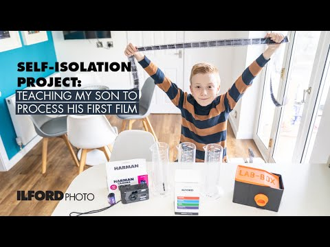 SELF-ISOLATION PROJECT: Teaching My Son To Process His First Black & White Film