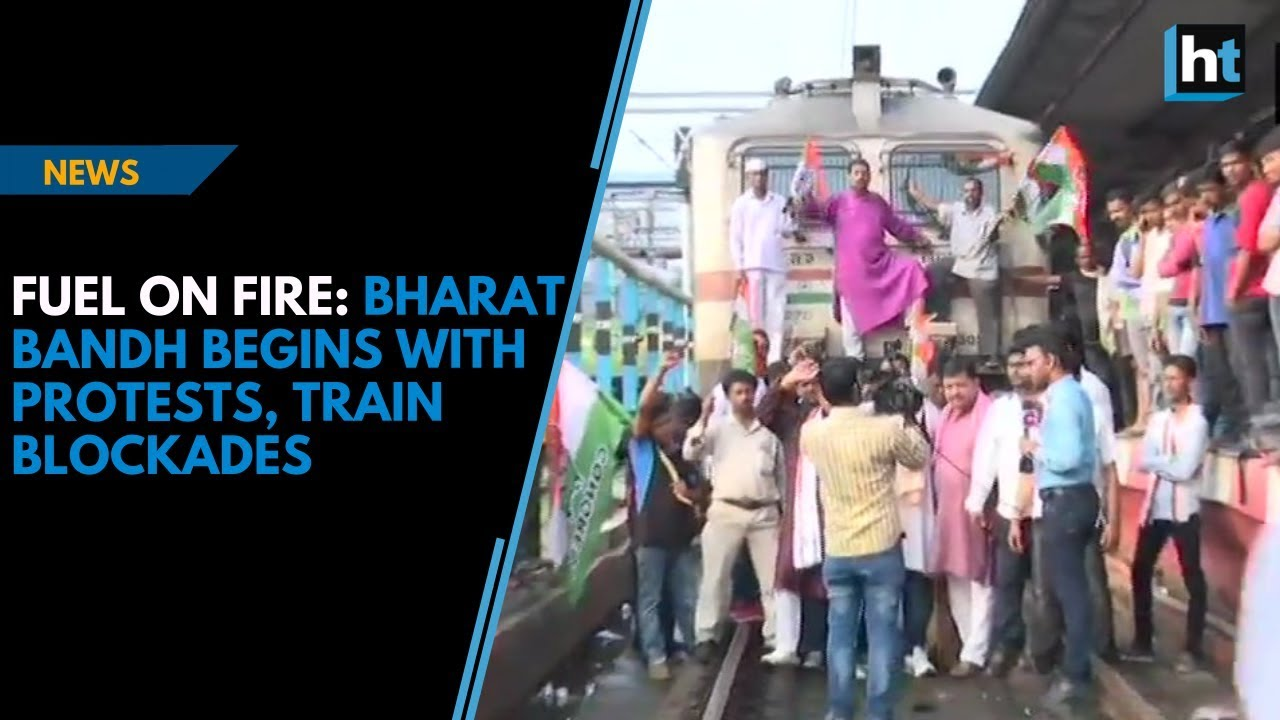 Download Fuel on fire: Bharat bandh begins with protests, train blockades